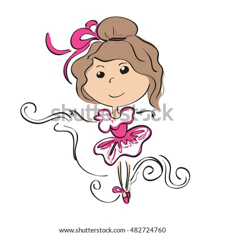 small ballerina vector