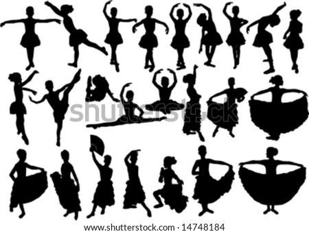Black And White Ballet Dancer. small allet dancer black