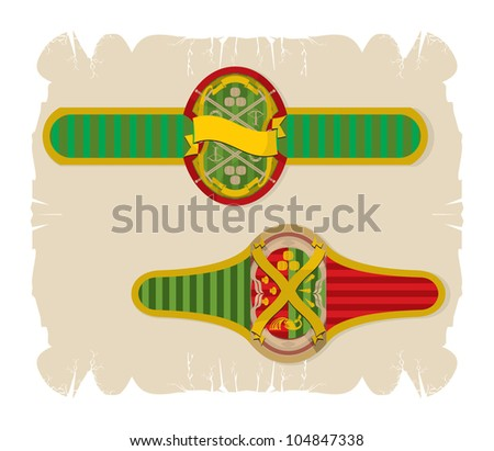 Small beer labels, 2, vector