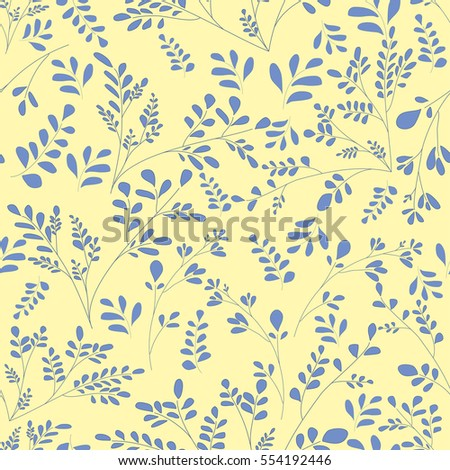 small blue flowers on a yellow