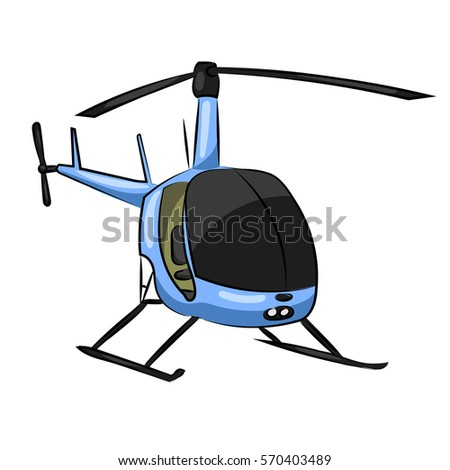 small blue helicopter with
