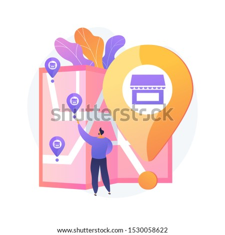 Small business expansion. Franchise development, assets management, globalization idea. Market leadership. Successful restaurant branch opening. Vector isolated concept metaphor illustration Foto d'archivio ©