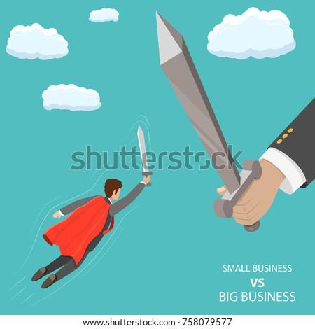 small business vs big flat