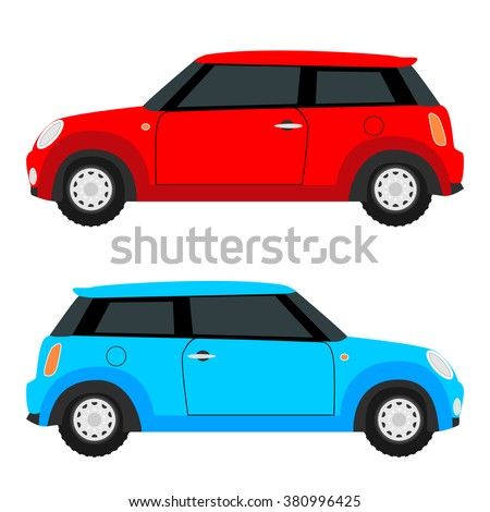 small car on both sides red