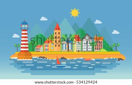 small city urban landscape
