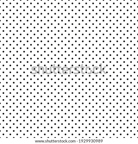 Small classic polka dots on a white background. Abstract geometric seamless pattern.