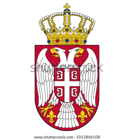 small coat of arms of serbia