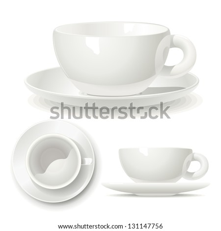 Small coffee cup. Illustration of a volume model small coffee cups for printing, logo or coloring.