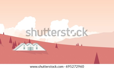 small cottage located on