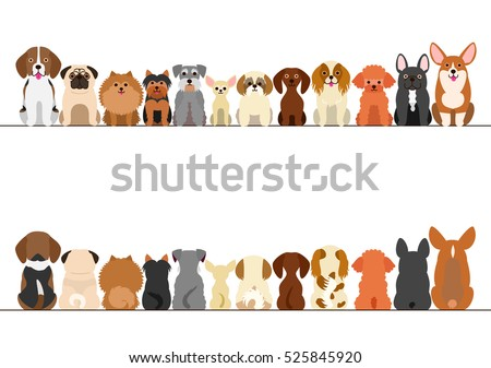 small dogs border set  front