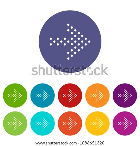 Small dots right arrow icon in simple style isolated on white background