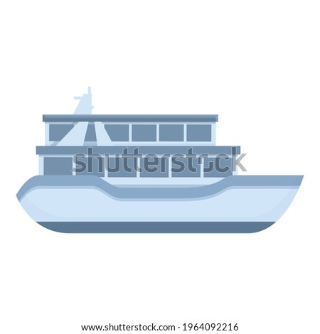 Small ferry icon. Cartoon of Small ferry vector icon for web design isolated on white background Foto stock ©