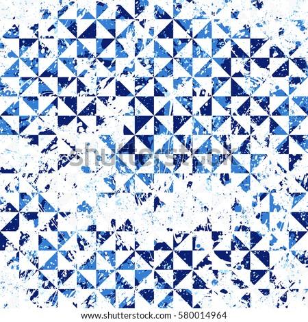 small geometric abstract mosaic