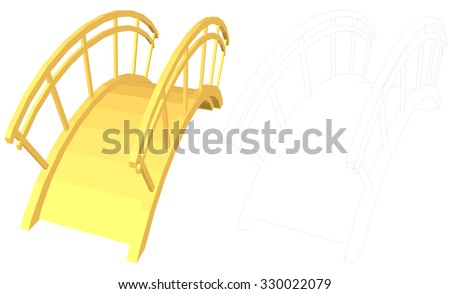 small golden bridge