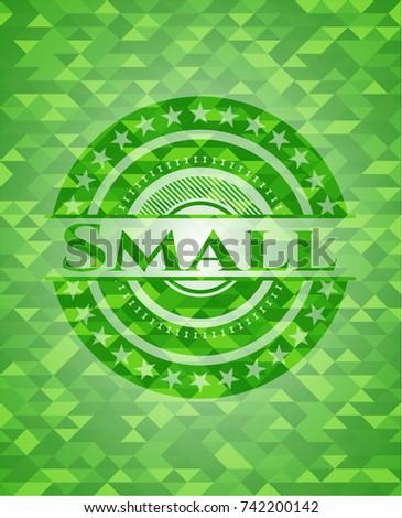 small green emblem mosaic