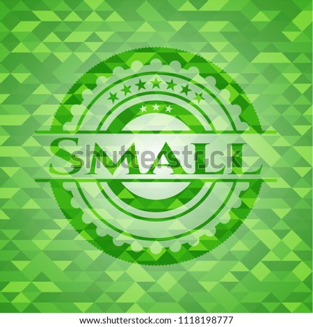small green emblem with mosaic