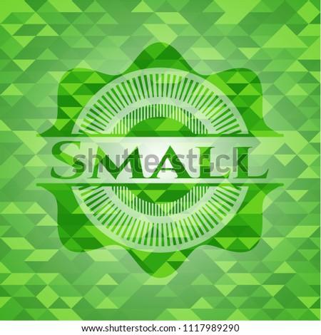 small green mosaic emblem