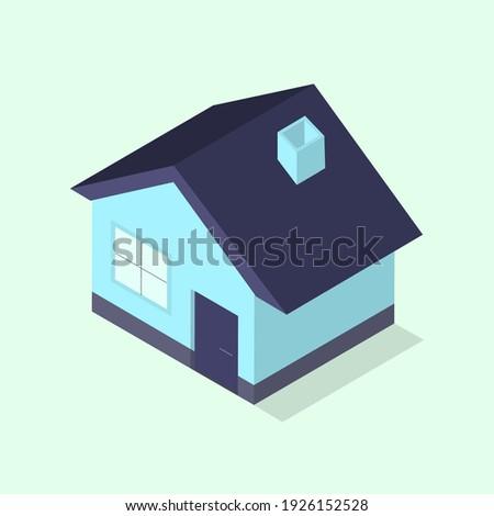 small isometric blue urban