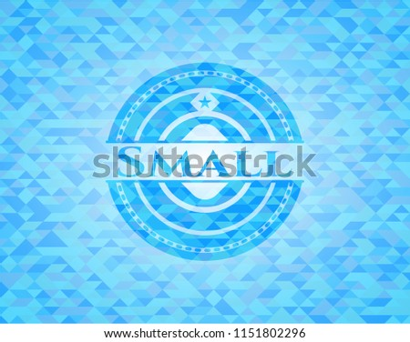 small light blue emblem with