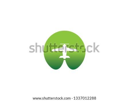 small plane travel agency logo