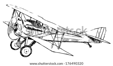Airplanes Vector Drawing