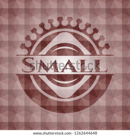 small red seamless badge with