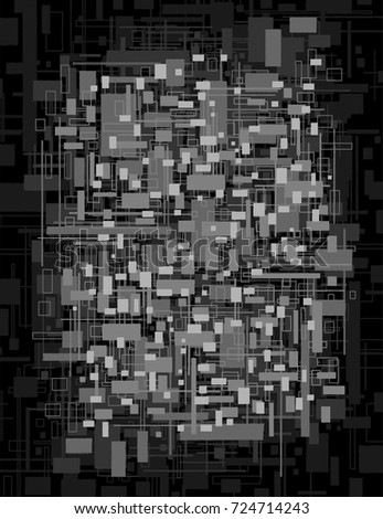 small square shapes of
