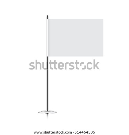 small table flag isolated on white background. vector table flag mock-up