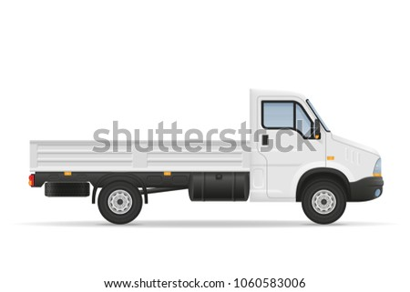 small truck van lorry for transportation of cargo goods stock vector illustration isolated on white background