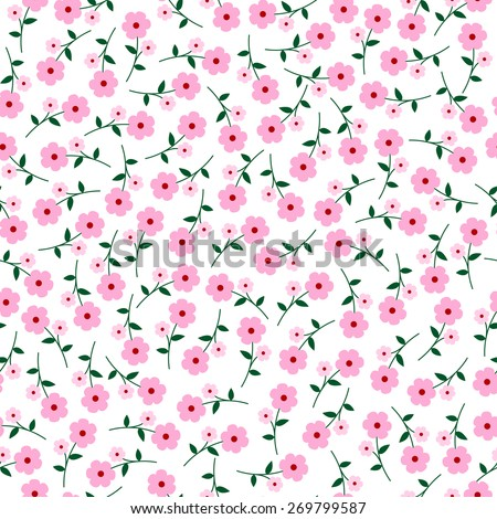 small vector flowers seamless pattern. flowers background.