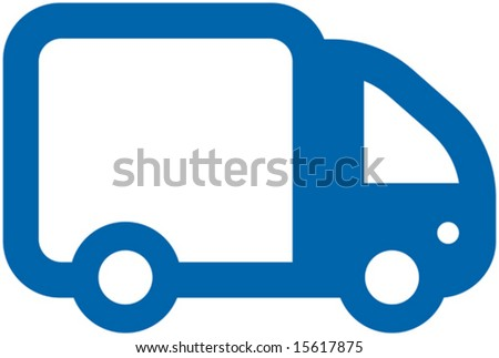 Small Vector Truck - stock vector