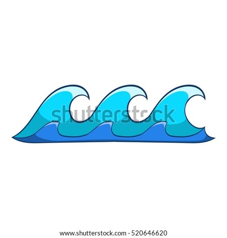 small waves icon cartoon