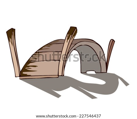 small wooden bridge with a