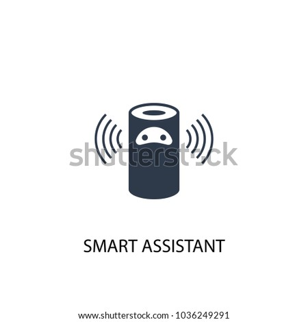 smart assistant icon. Simple element illustration. smart assistant symbol design from Smart home collection. Can be used for web and mobile.