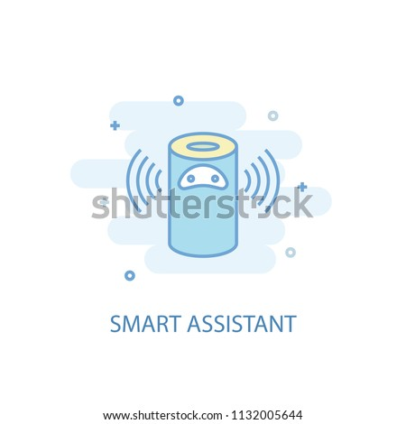 smart assistant line trendy icon. Simple line, colored illustration. smart assistant symbol flat design from Smart Home set. Can be used for UI/UX