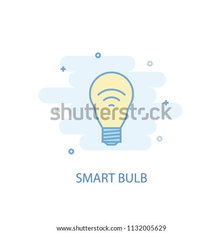 smart bulb line trendy icon. Simple line, colored illustration. smart bulb symbol flat design from Smart Home set. Can be used for UI/UX