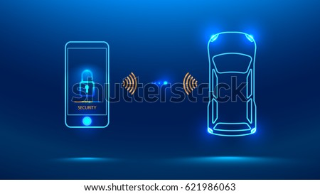 smart car security system icon