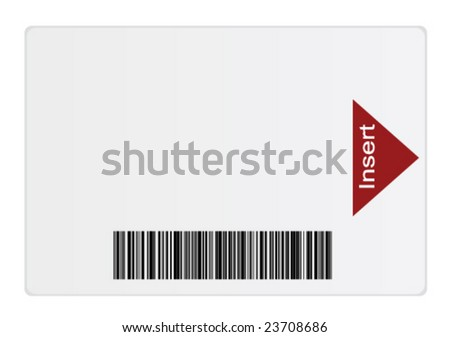 Smart Card (Vector and JPG versions available in my portfolio) - stock vector