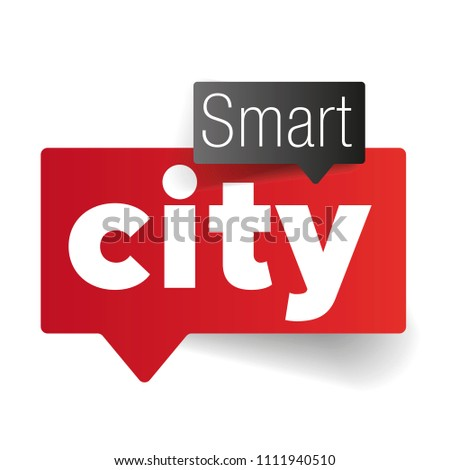 Smart city speech bubble