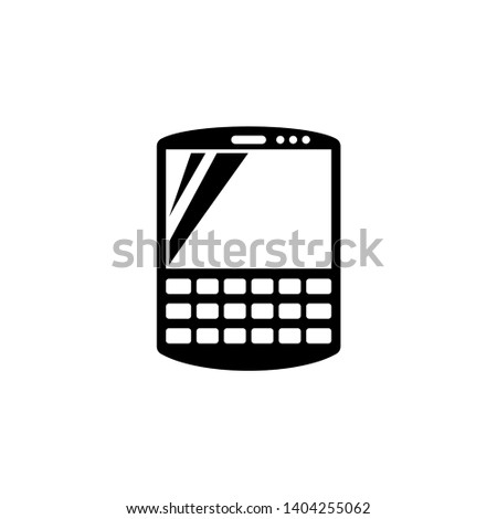 Smart Communicator, Pda. Flat Vector Icon illustration. Simple black symbol on white background. Smart Communicator, Pda sign design template for web and mobile UI element