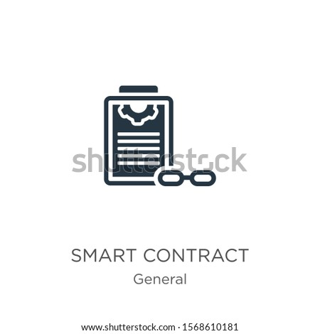 Smart contract icon vector. Trendy flat smart contract icon from general collection isolated on white background. Vector illustration can be used for web and mobile graphic design, logo, eps10