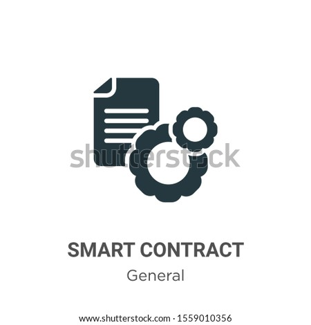 Smart contract vector icon on white background. Flat vector smart contract icon symbol sign from modern general collection for mobile concept and web apps design.