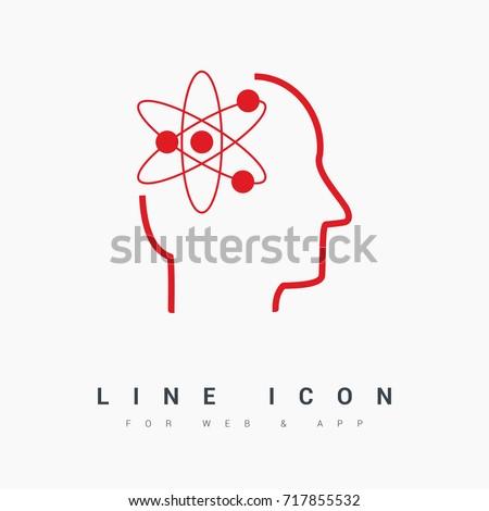 smart genius line vector icon
