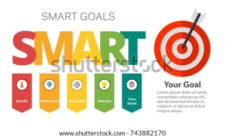 SMART Goals Setting Diagram Template