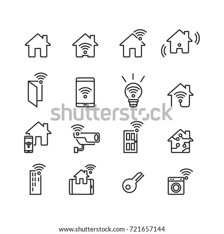 Smart Home and Technology icons set, Vector