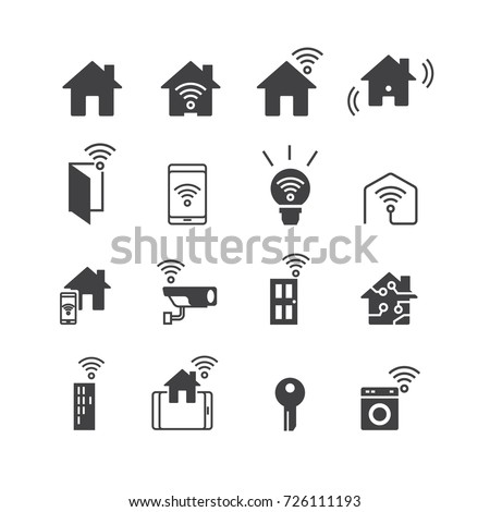 Smart Home and Technology icons set,Vector