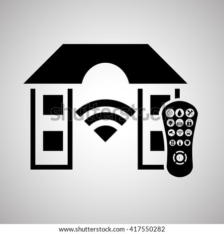 Smart home design. Technology icon. system concept