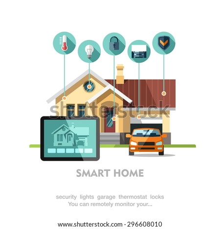 smart home flat design style