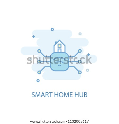 Smart home hub line trendy icon. Simple line, colored illustration. Smart home hub symbol flat design from Smart Home set. Can be used for UI/UX