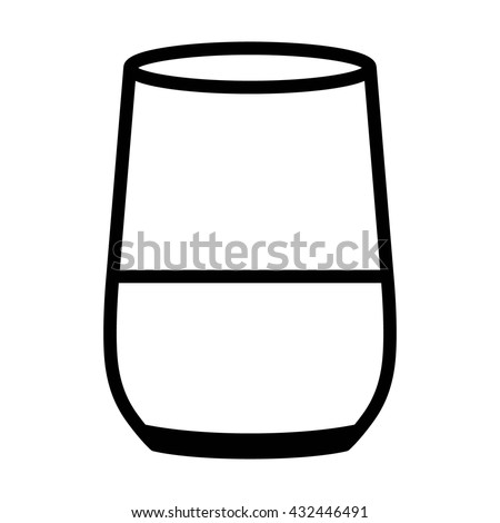 Smart home speaker with digital / virtual assistant line art vector icon for apps and websites